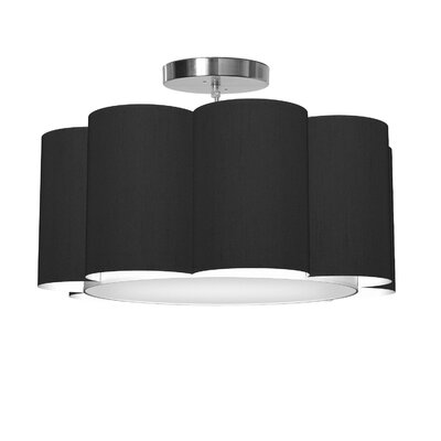 Bloom 1-Light Drum Pendant Shade Color: Ebony