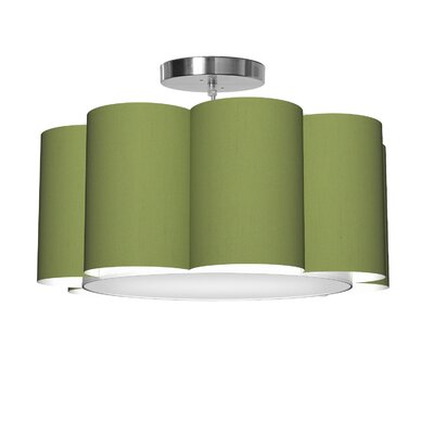 Bloom 1-Light Drum Pendant Shade Color: Verde