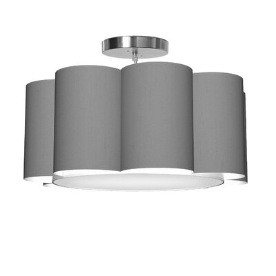 Bloom 1-Light Drum Pendant Shade Color: Gunmetal