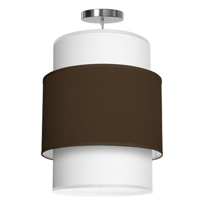 Evan 1-Light Drum Pendant Shade Color: Chocolate, Size: 22 H x 16 W x 16 D