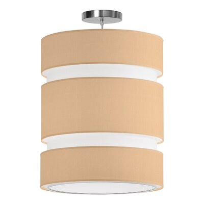 Lena 2-Light Drum Pendant Shade Color: Champagne, Size: 28 H x 24 W x 24 D