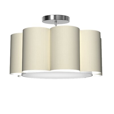 Bloom 1-Light Drum Pendant Shade Color: Cream
