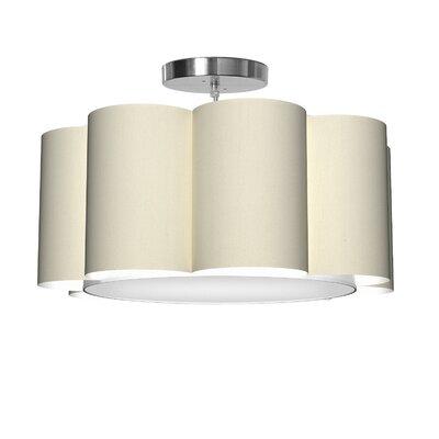 Bloom 1-Light Drum Pendant Shade Color: Cream