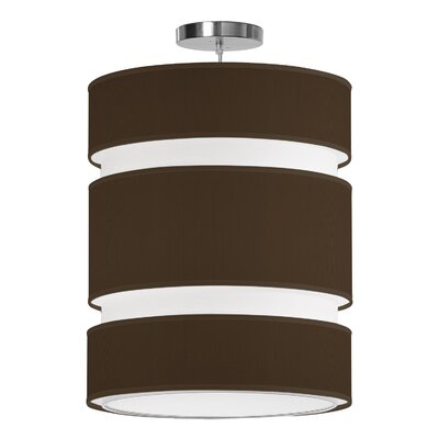 Lena 2-Light Drum Pendant Shade Color: Chocolate, Size: 24 H x 20 W x 20 D