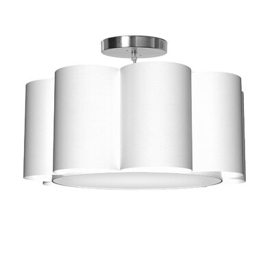 Bloom 1-Light Drum Pendant Shade Color: White