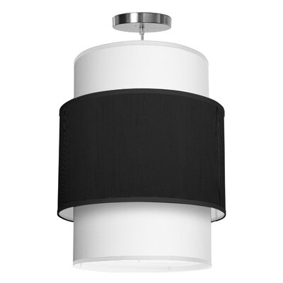Evan 1-Light Drum Pendant Shade Color: Ebony, Size: 22 H x 16 W x 16 D