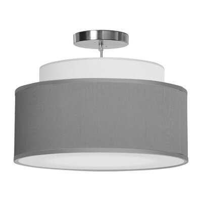 Abba 1-Light Drum Pendant Shade Color: Gunmetal, Size: 12 H x 24 W x 24 D