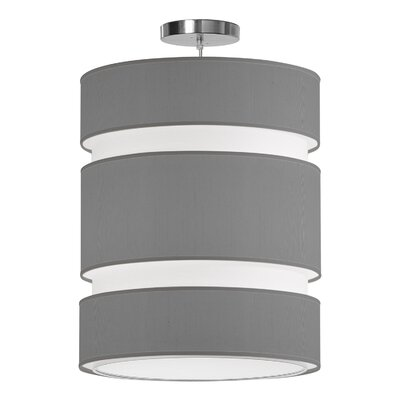 Lena 2-Light Drum Pendant Shade Color: Gunmetal, Size: 20 H x 16 W x 16 D