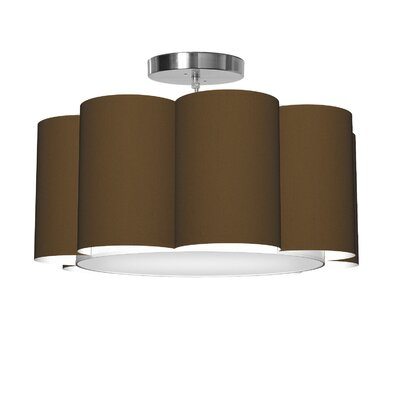 Bloom 1-Light Drum Pendant Shade Color: Antique Copper