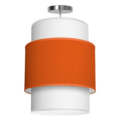 Evan 1-Light Drum Pendant Shade Color: Orange, Size: 30 H x 24 W x 24 D