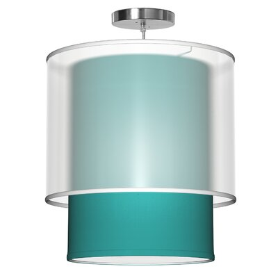 Lumiere 1-Light Drum Pendant Shade Color: Turquoise, Size: 32 H x 30 W x 30 D