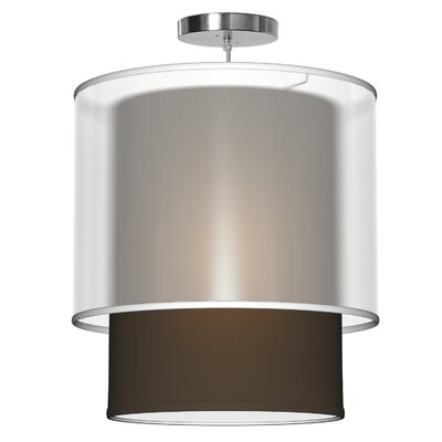Lumiere 1-Light Drum Pendant Shade Color: Chocolate, Size: 18 H x 16 W x 16 D