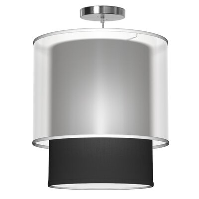 Lumiere 1-Light Drum Pendant Shade Color: Ebony, Size: 26 H x 24 W x 24 D