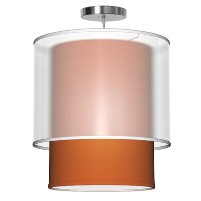 Lumiere 1-Light Drum Pendant Shade Color: Orange, Size: 32 H x 30 W x 30 D