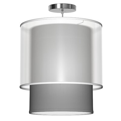 Lumiere 1-Light Drum Pendant Size: 22 H x 20 W x 20 D, Shade Color: Gunmetal