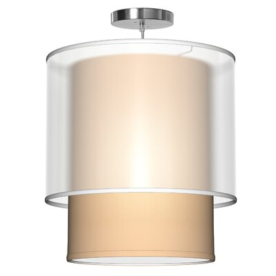Lumiere 1-Light Drum Pendant Shade Color: Champagne, Size: 26 H x 24 W x 24 D