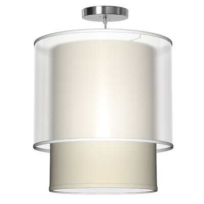 Lumiere 1-Light Drum Pendant Shade Color: Cream, Size: 26 H x 24 W x 24 D