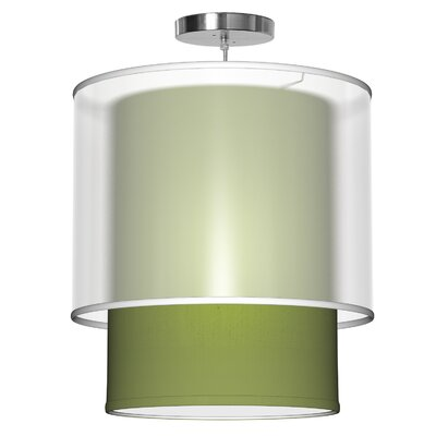 Lumiere 1-Light Drum Pendant Shade Color: Verde, Size: 26 H x 24 W x 24 D