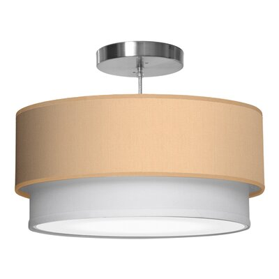 Luther 1-Light Drum Pendant Shade Color: Champagne, Size: 7.5 H x 20 W x 20 D