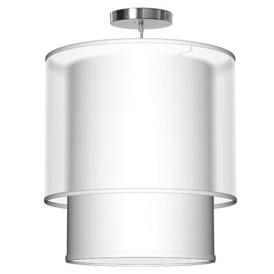 Lumiere 1-Light Drum Pendant Size: 22 H x 20 W x 20 D, Shade Color: White