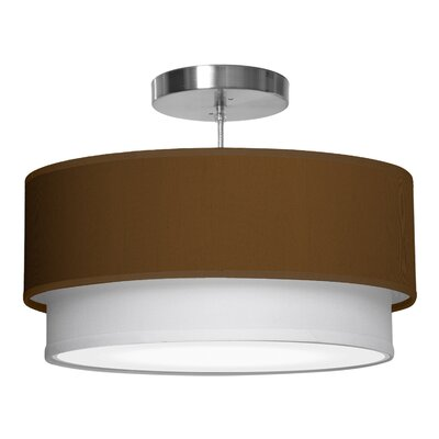 Luther 1-Light Drum Pendant Shade Color: Antique Copper, Size: 10 H x 30 W x 30 D