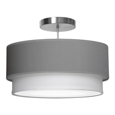 Luther 1-Light Drum Pendant Shade Color: Gunmetal, Size: 7.5 H x 24 W x 24 D