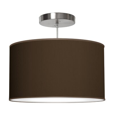 Thao 1-Light Drum Pendant Shade Color: Chocolate, Size: 9 H x 20 W x 20 D