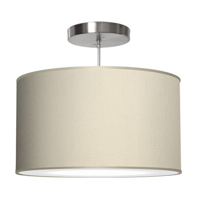 Thao 1-Light Drum Pendant Size: 11 H x 24 W x 24 D, Shade Color: Cream