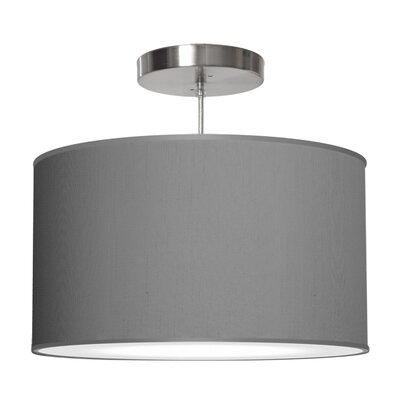 Thao 1-Light Drum Pendant Shade Color: Gunmetal, Size: 11 H x 24 W x 24 D