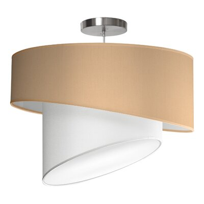 Twist 1-Light Drum Pendant Shade Color: Champagne, Size: 16 H x 24 W x 24 D