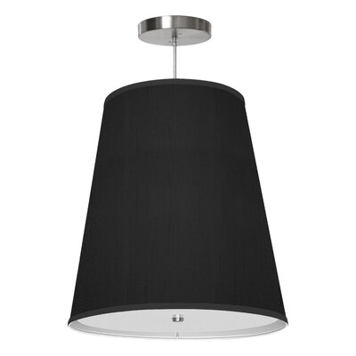 Zak 1-Light Drum Pendant Shade Color: Ebony, Size: 20 H x 18 W x 12 D