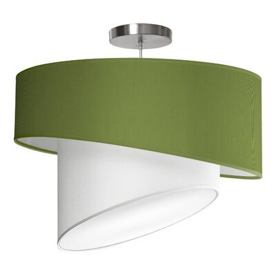 Twist 1-Light Drum Pendant Shade Color: Verde, Size: 12 H x 18 W x 18 D