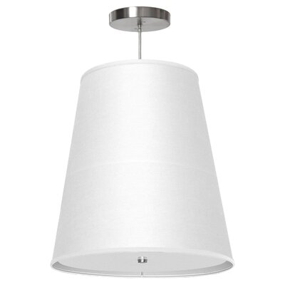Zak 1-Light Drum Pendant Shade Color: White, Size: 14 H x 13 W x 8 D
