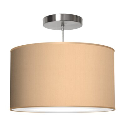 Thao 1-Light Drum Pendant Shade Color: Champagne, Size: 9 H x 20 W x 20 D