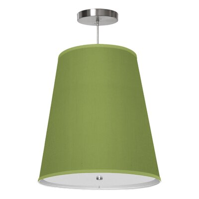 Zak 1-Light Drum Pendant Shade Color: Verde, Size: 20 H x 18 W x 12 D