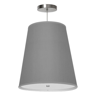 Zak 1-Light Drum Pendant Shade Color: Gunmetal, Size: 20 H x 18 W x 12 D