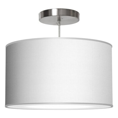 Thao 1-Light Drum Pendant Shade Color: White, Size: 11 H x 24 W x 24 D