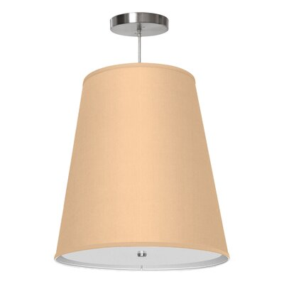 Zak 1-Light Drum Pendant Shade Color: Champagne, Size: 22 H x 20 W x 14 D