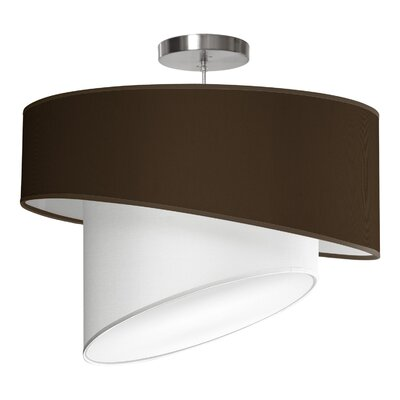 Twist 1-Light Drum Pendant Shade Color: Chocolate, Size: 16 H x 24 W x 24 D