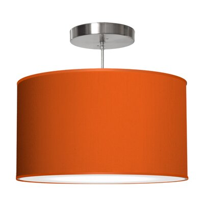 Thao 1-Light Drum Pendant Shade Color: Orange, Size: 11 H x 24 W x 24 D