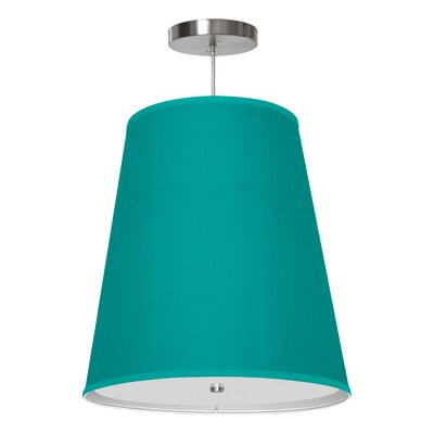 Zak 1-Light Drum Pendant Shade Color: Turquoise, Size: 20 H x 18 W x 12 D