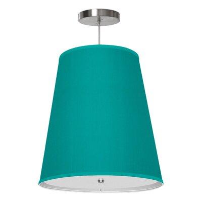 Zak 1-Light Drum Pendant Shade Color: Turquoise, Size: 14 H x 13 W x 8 D