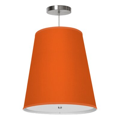 Zak 1-Light Drum Pendant Size: 20 H x 18 W x 12 D, Shade Color: Orange