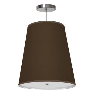 Zak 1-Light Drum Pendant Shade Color: Chocolate, Size: 14 H x 13 W x 8 D