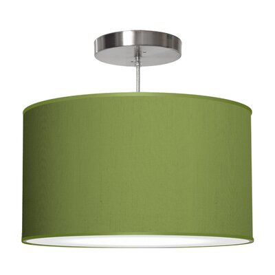 Thao 1-Light Drum Pendant Shade Color: Verde, Size: 9 H x 16 W x 16 D