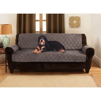 Honeycomb Box Cushion Sofa Slipcover Upholstery: Charcoal