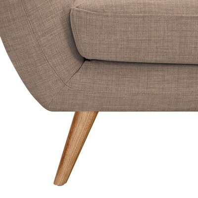 Ida Armchair Upholstery: Light Sand, Leg Finish: Natural
