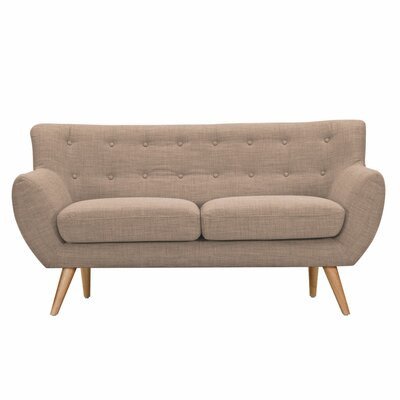 Ida Loveseat Upholstery: Light Sand, Frame Finish: Natural