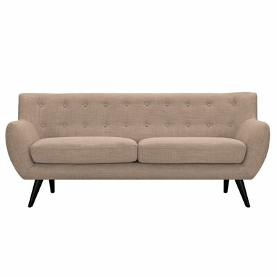 Ida Sofa Upholstery: Light Sand, Frame Finish: Black