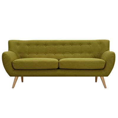 Ida Sofa Frame Finish: Natural, Upholstery: Avocado Green